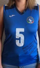 T-shirt nazionale italiana volley femminile sorde, autografata da Valentina Broggi